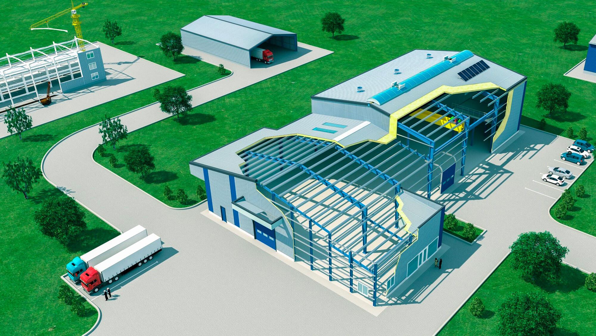 Le procédé ASTRON est un concept de bâtiments clés-en-main conçus sur mesure