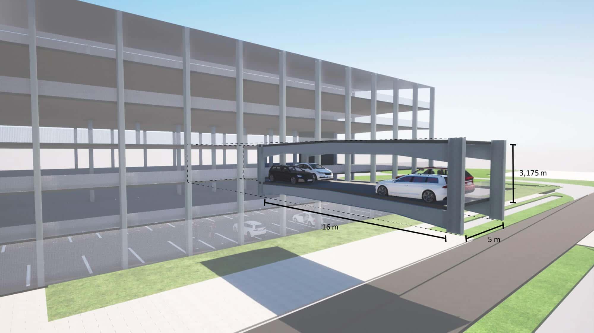 Le parking parking modulaire Astron : un concept évolutif démontable et remontable à volonté